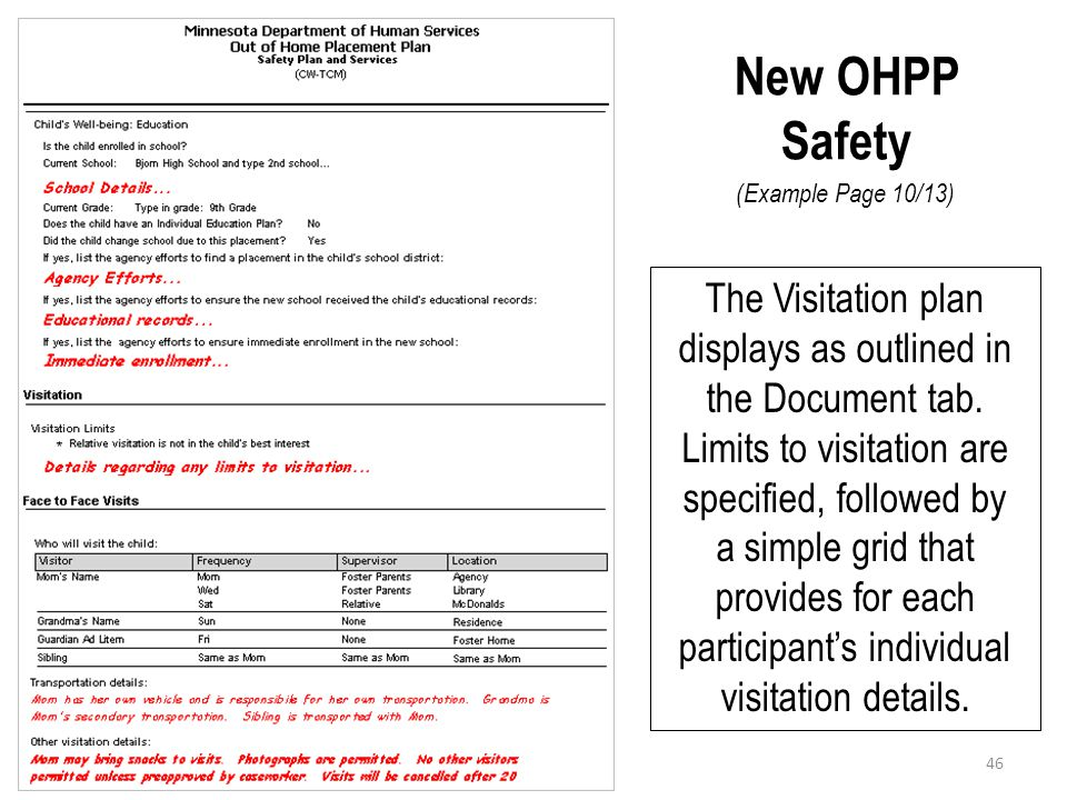 New OHPP Safety (Example Page 10/13)