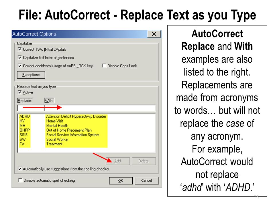 File: AutoCorrect - Replace Text as you Type