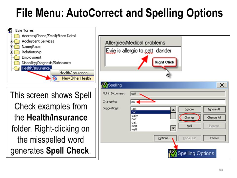 File Menu: AutoCorrect and Spelling Options