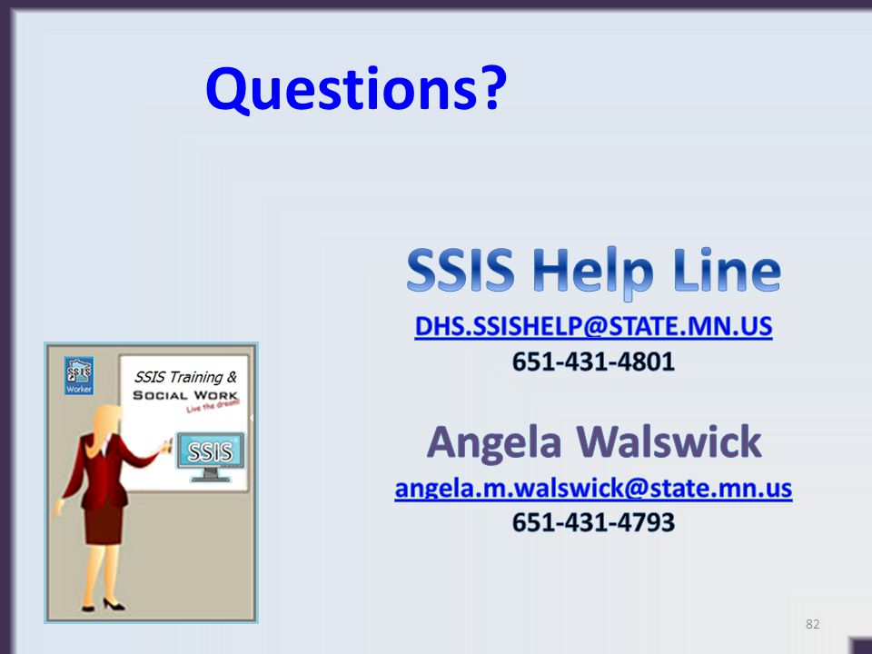 Questions SSIS Help Line