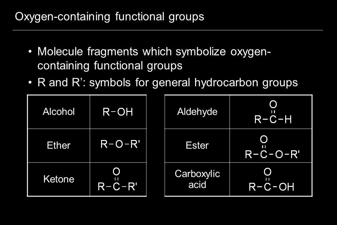 Oxygen-containing functional groups
