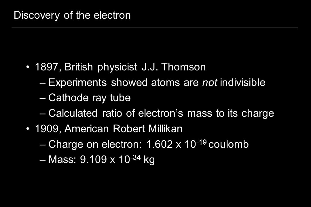 Discovery of the electron