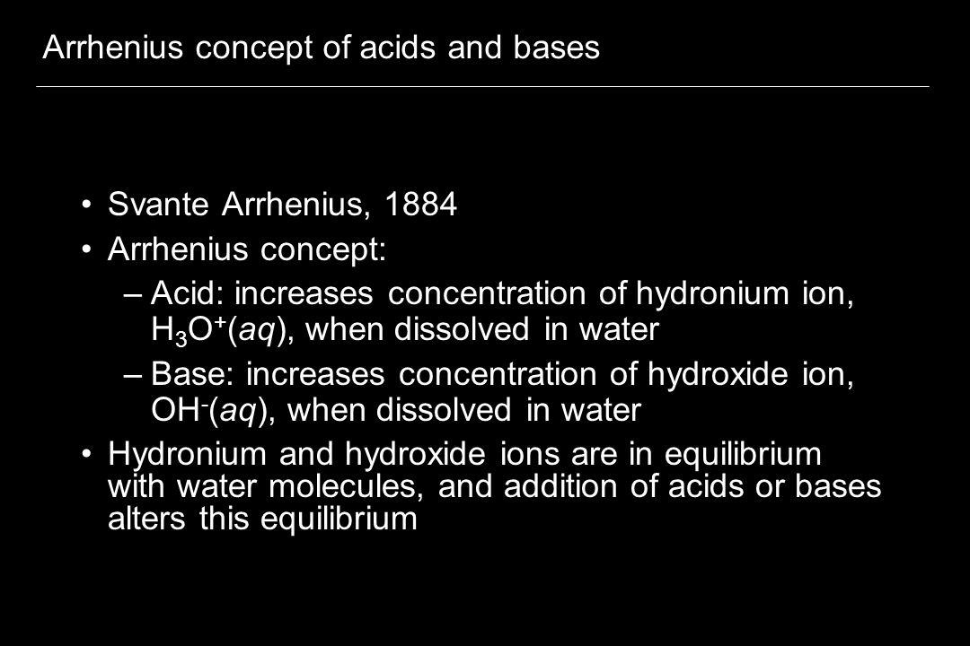 Arrhenius concept of acids and bases