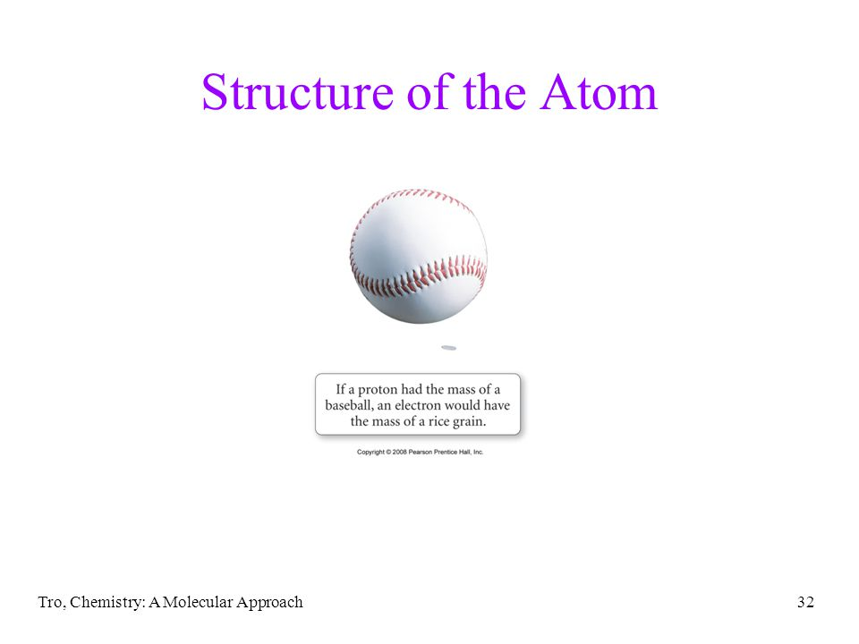 Structure of the Atom Tro, Chemistry: A Molecular Approach