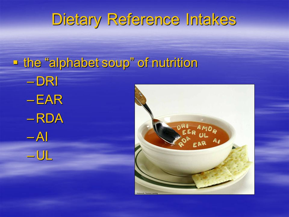 Dietary Reference Intakes