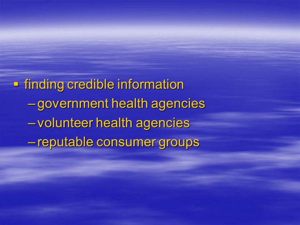 finding credible information