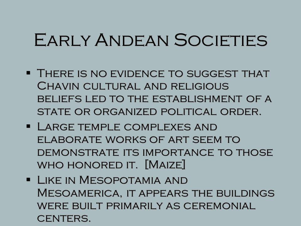 Early Andean Societies