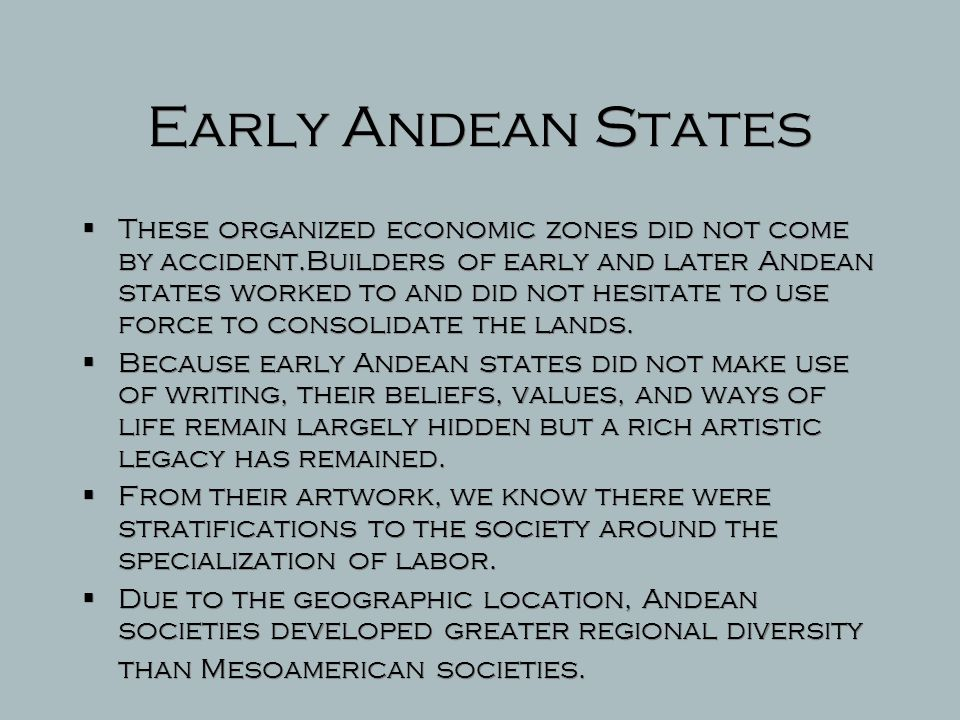 Early Andean States