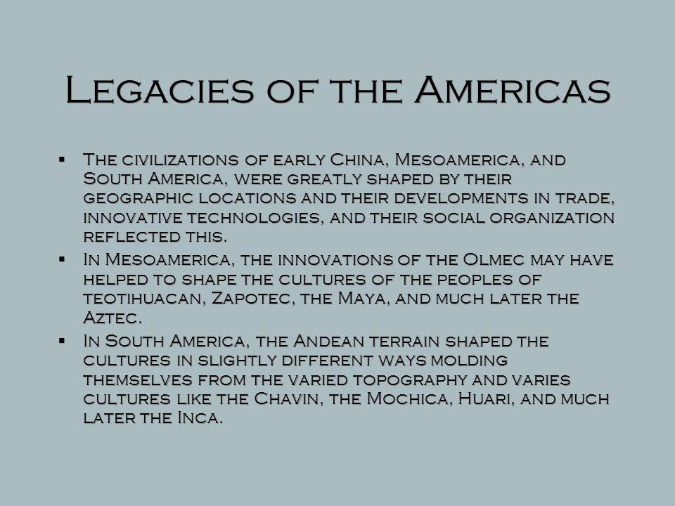 Legacies of the Americas