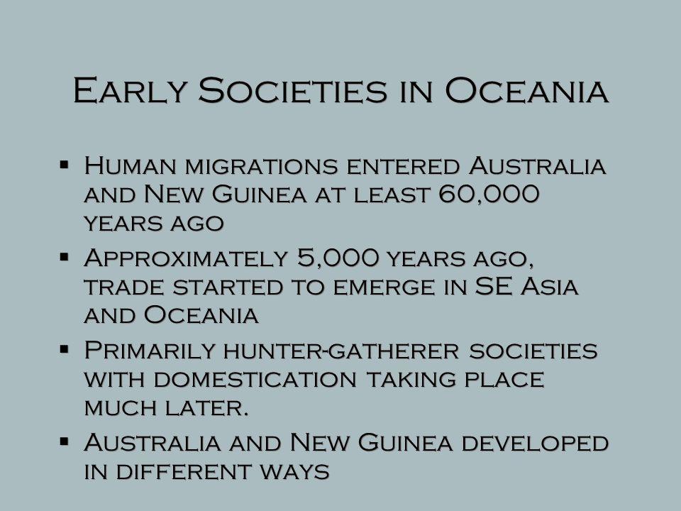 Early Societies in Oceania