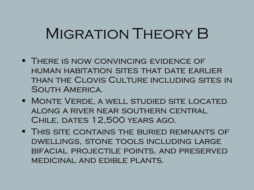 Migration Theory B