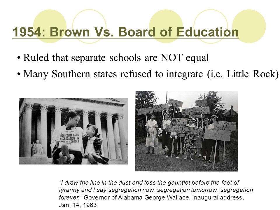 1954: Brown Vs. Board of Education