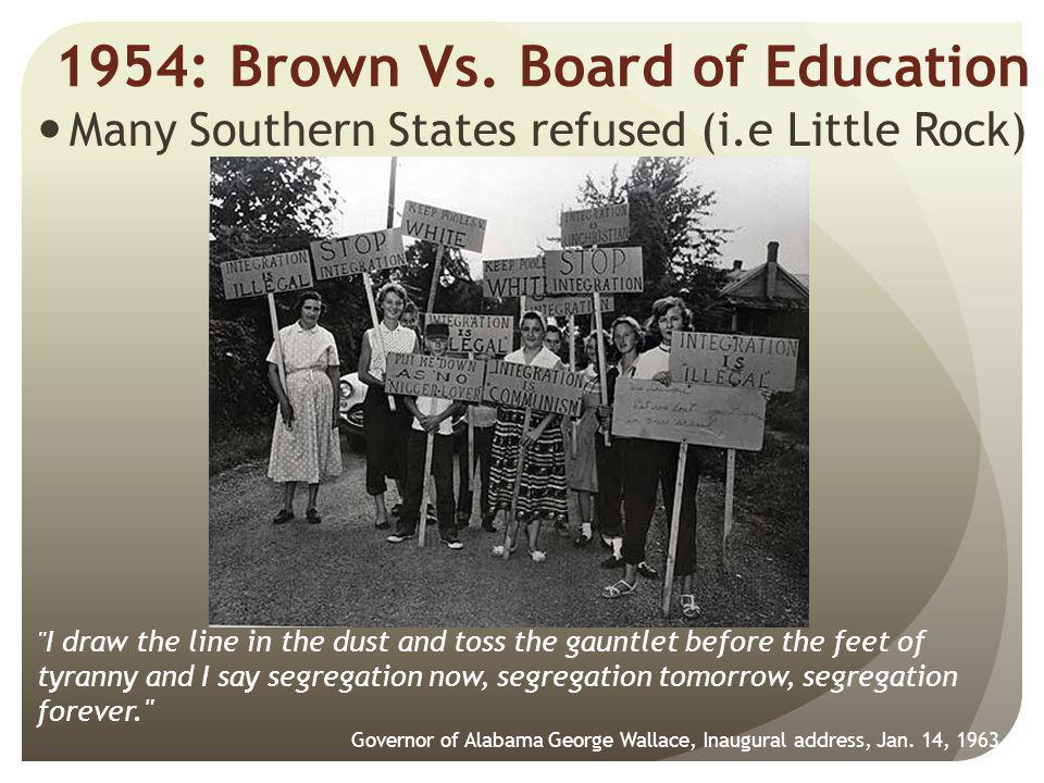1954: Brown Vs. Board of Education