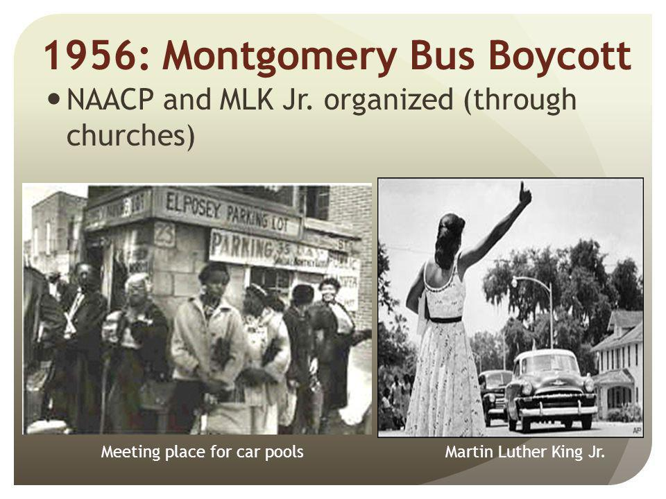 1956: Montgomery Bus Boycott