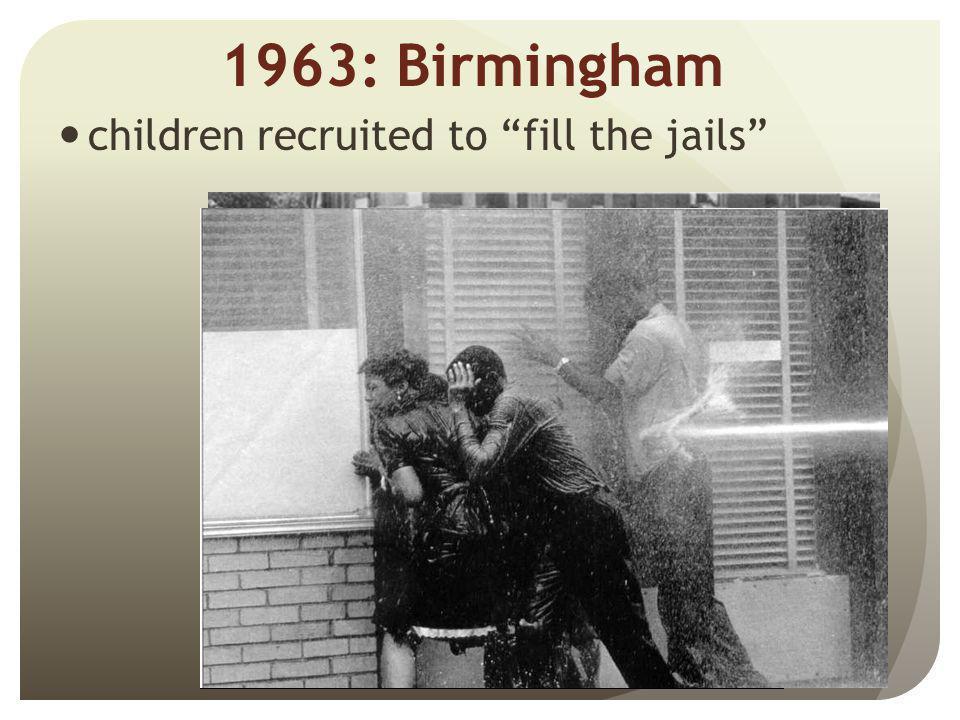 1963: Birmingham children recruited to fill the jails