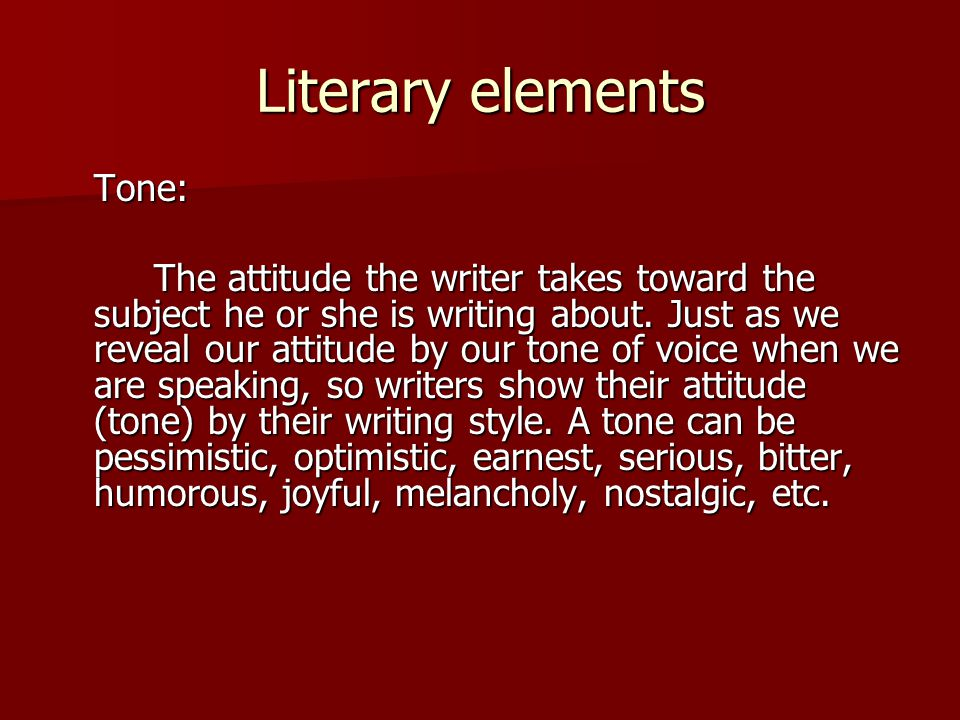 Elements of a humorous essay