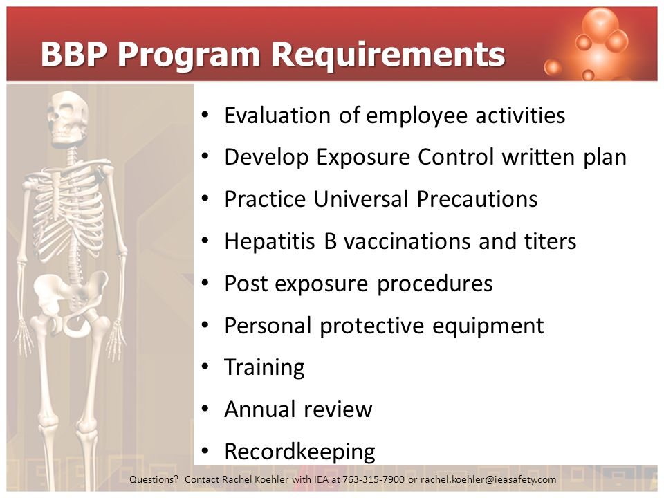 BBP Program Requirements