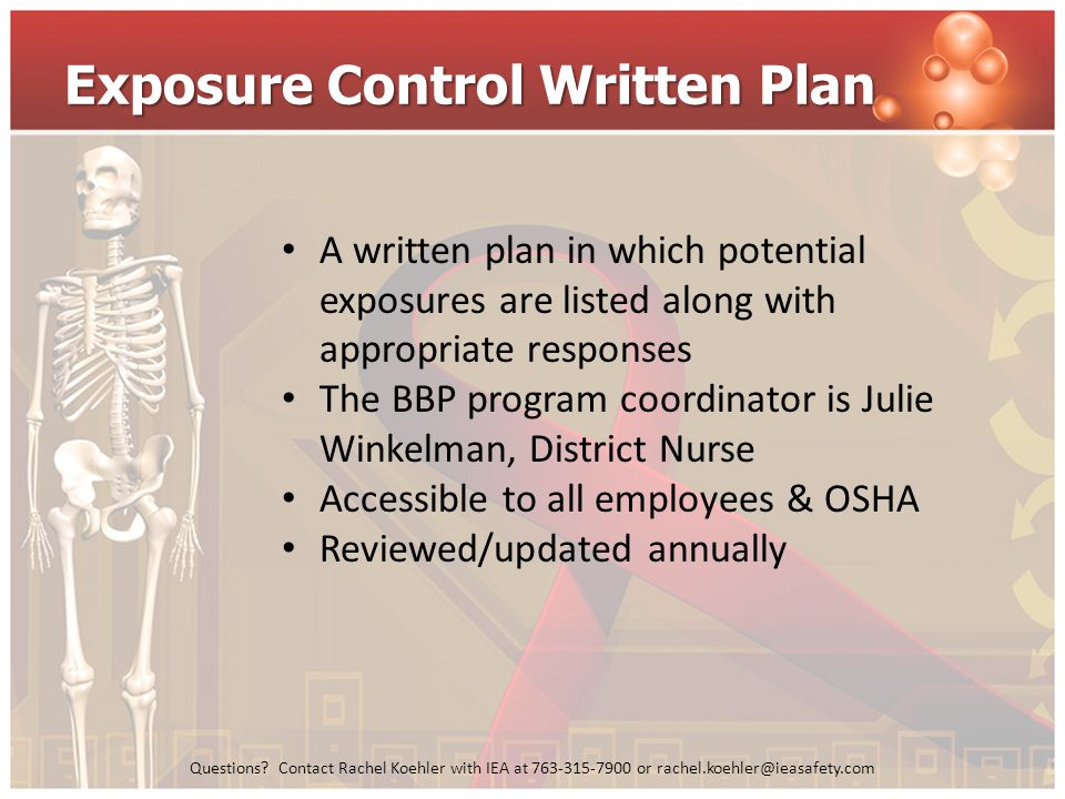 Exposure Control Written Plan