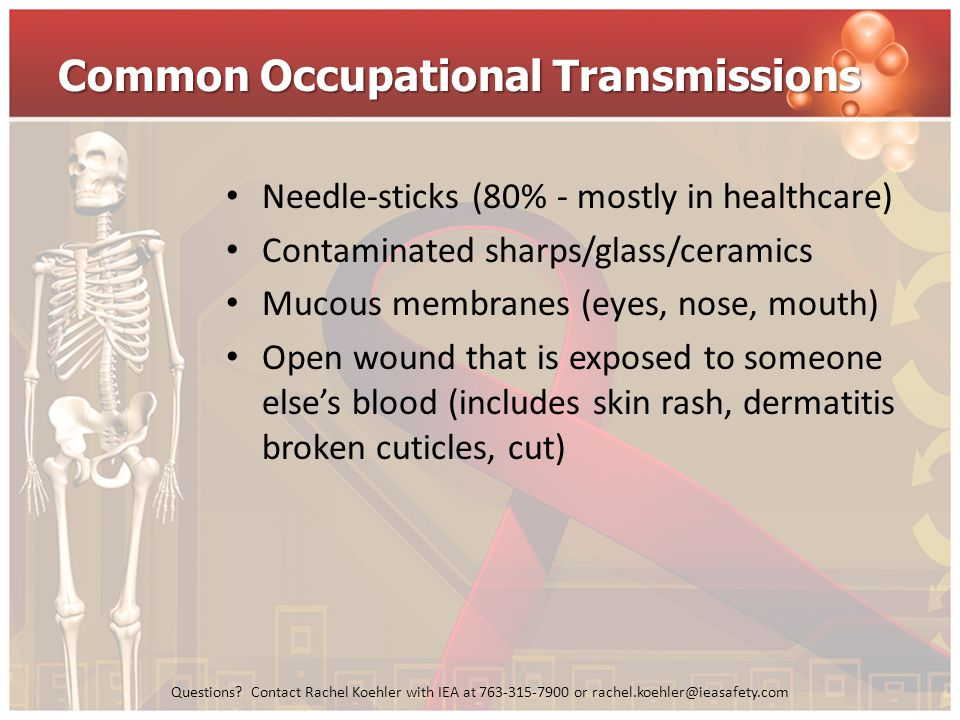Common Occupational Transmissions