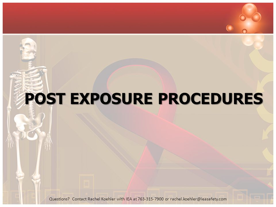 Post exposure procedures