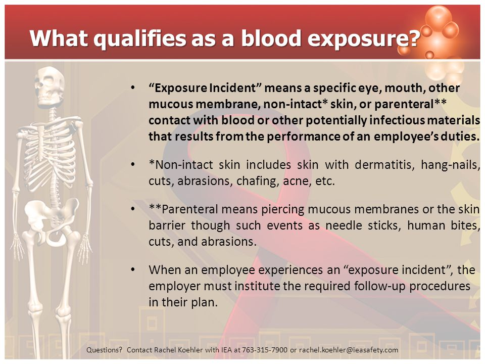 What qualifies as a blood exposure