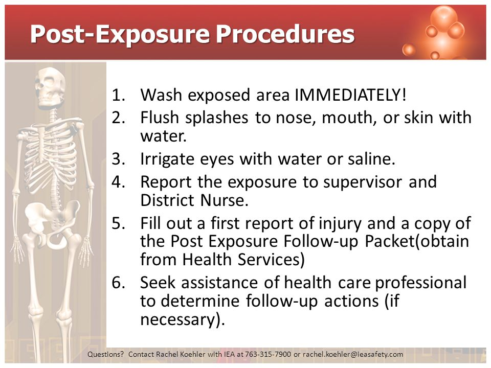 Post-Exposure Procedures