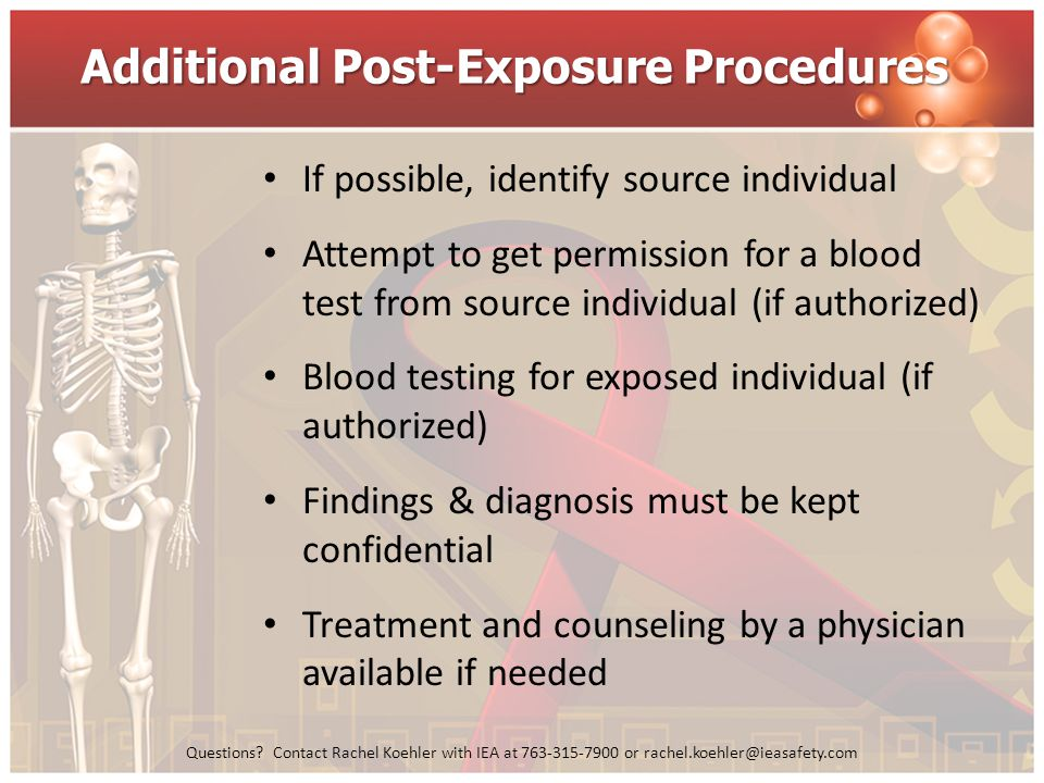 Additional Post-Exposure Procedures