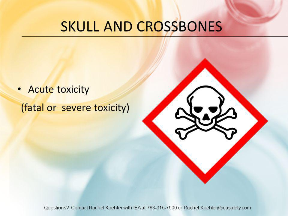 Skull and Crossbones Acute toxicity (fatal or severe toxicity)