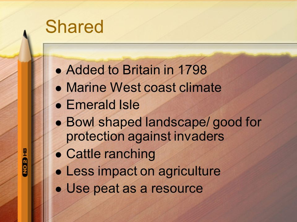 Shared Added to Britain in 1798 Marine West coast climate Emerald Isle