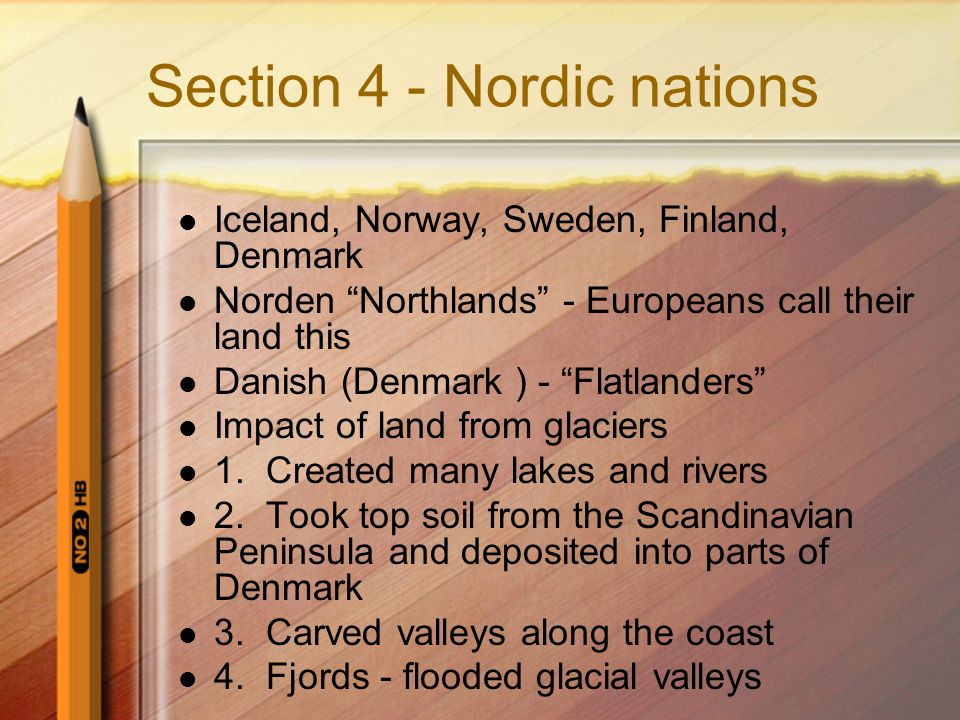 Section 4 - Nordic nations