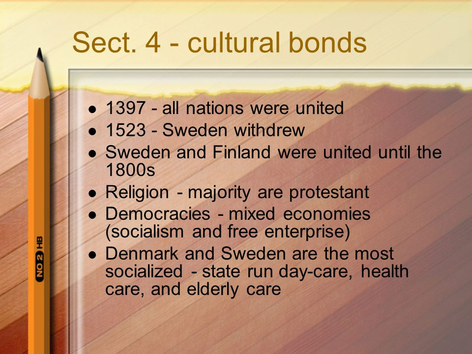 Sect. 4 - cultural bonds 1397 - all nations were united