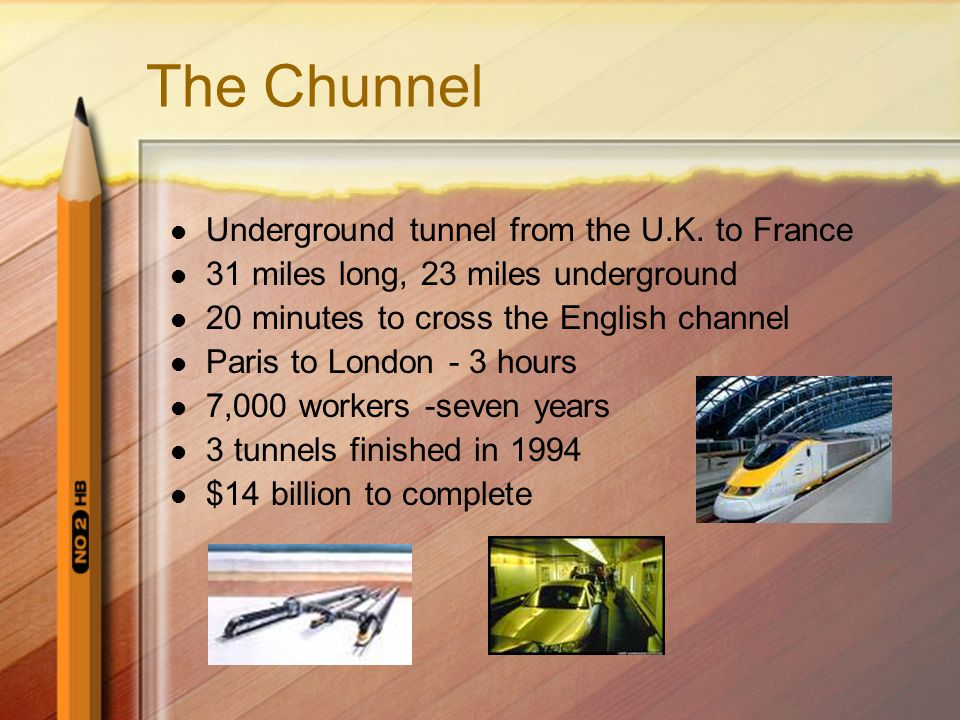 The Chunnel Underground tunnel from the U.K. to France