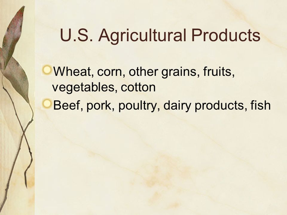 U.S. Agricultural Products