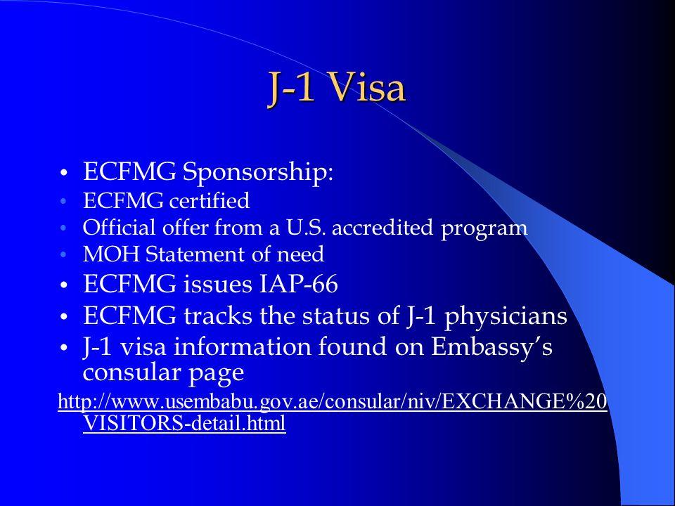 J-1 Visa ECFMG Sponsorship: ECFMG issues IAP-66