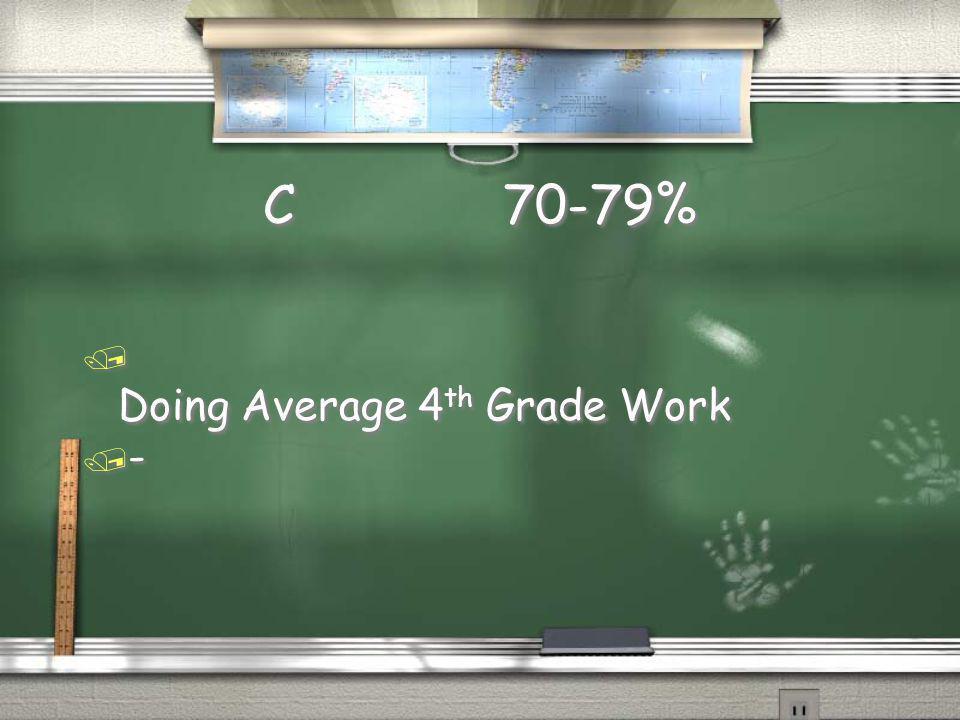 C 70-79% Doing Average 4th Grade Work -
