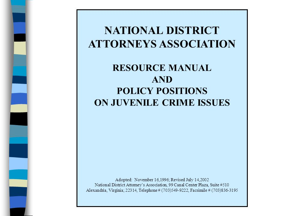 ATTORNEYS ASSOCIATION ON JUVENILE CRIME ISSUES