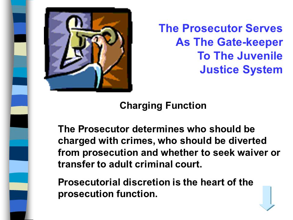 The Prosecutor Serves As The Gate-keeper To The Juvenile Justice System