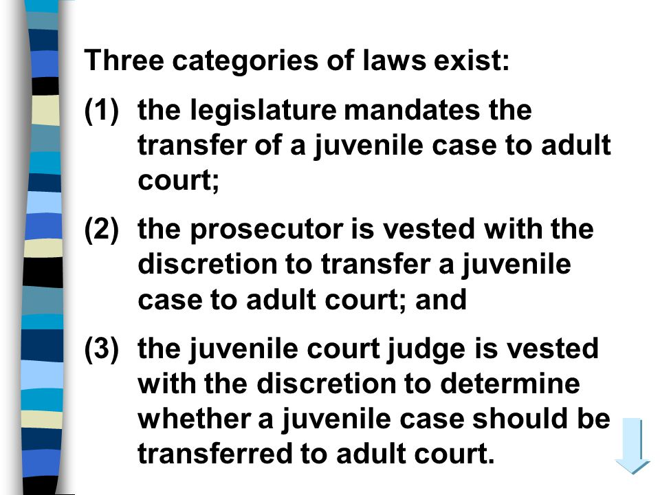 Three categories of laws exist:
