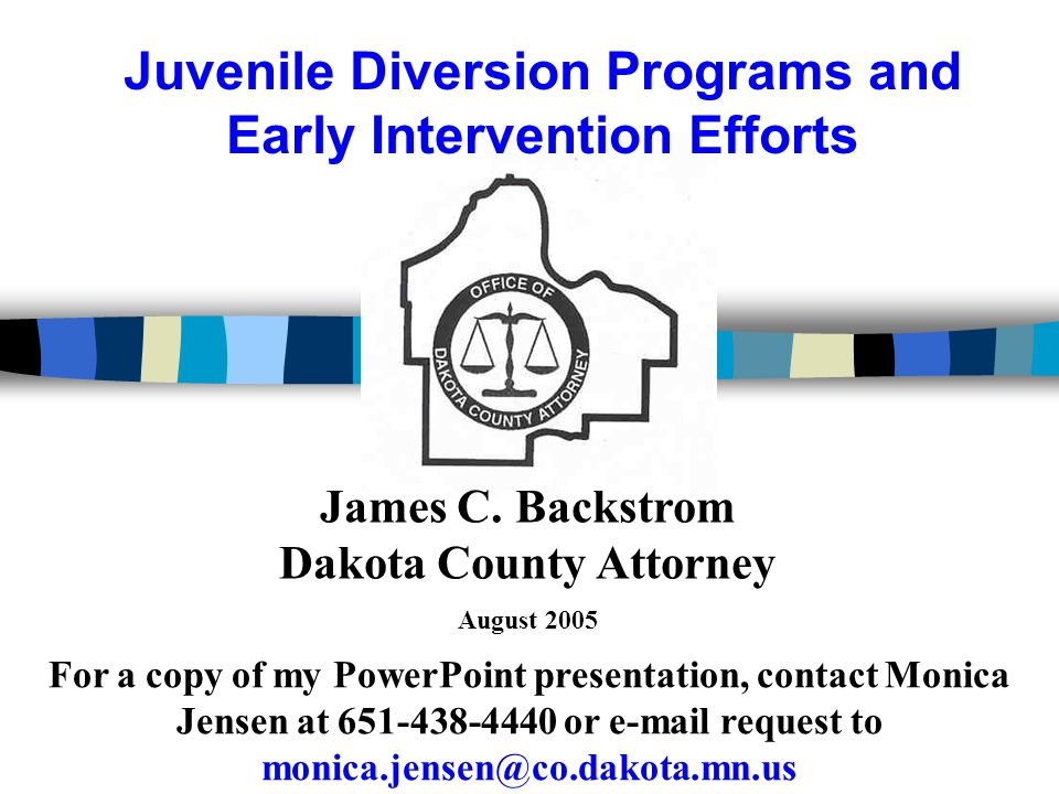 Juvenile Diversion Programs and Early Intervention Efforts