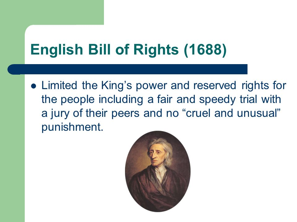 English Bill of Rights (1688)