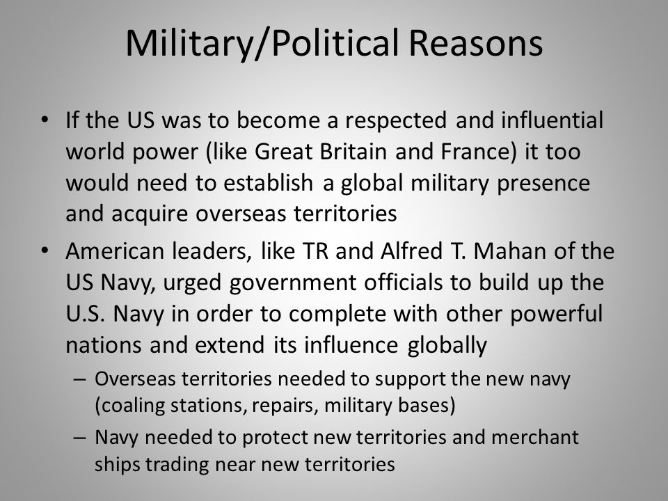 Military/Political Reasons