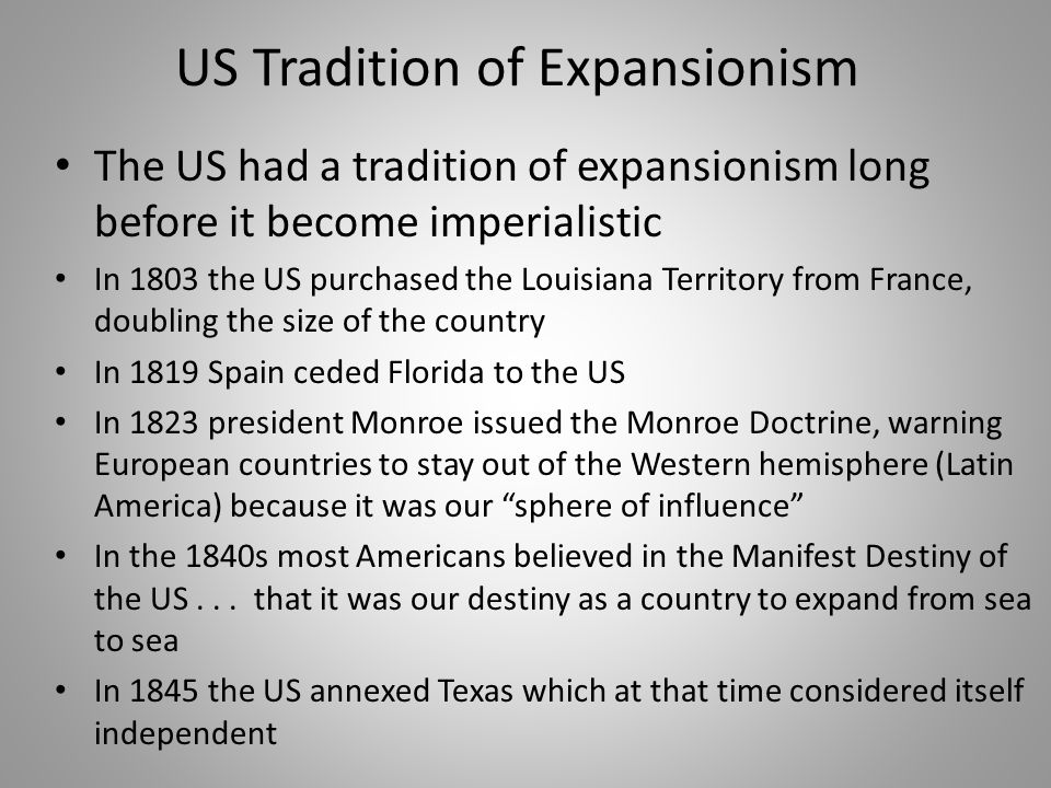 US Tradition of Expansionism