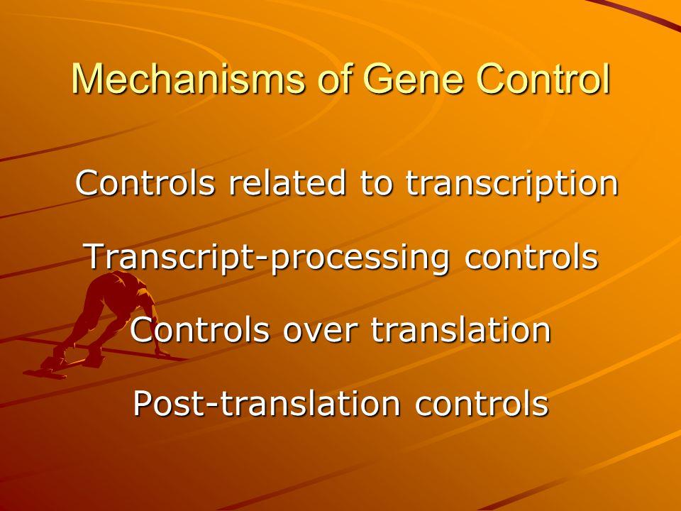 Mechanisms of Gene Control