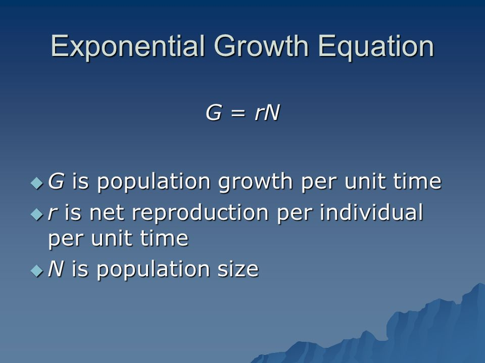 Exponential Growth Equation