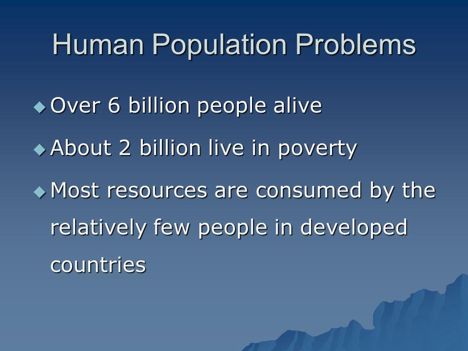 Human Population Problems