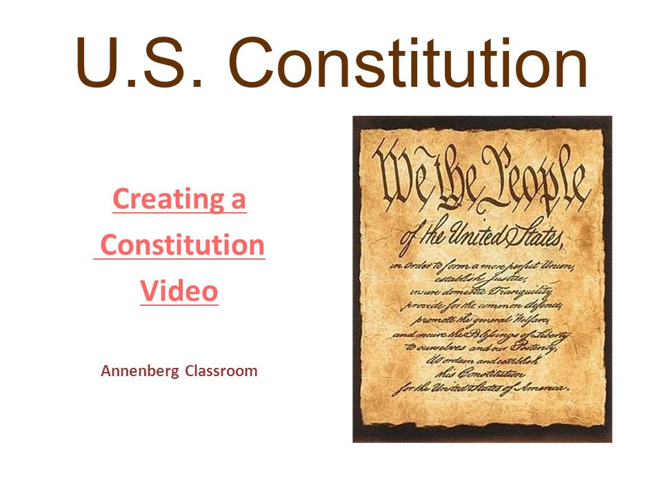 U.S. Constitution Creating a Constitution Video Annenberg Classroom