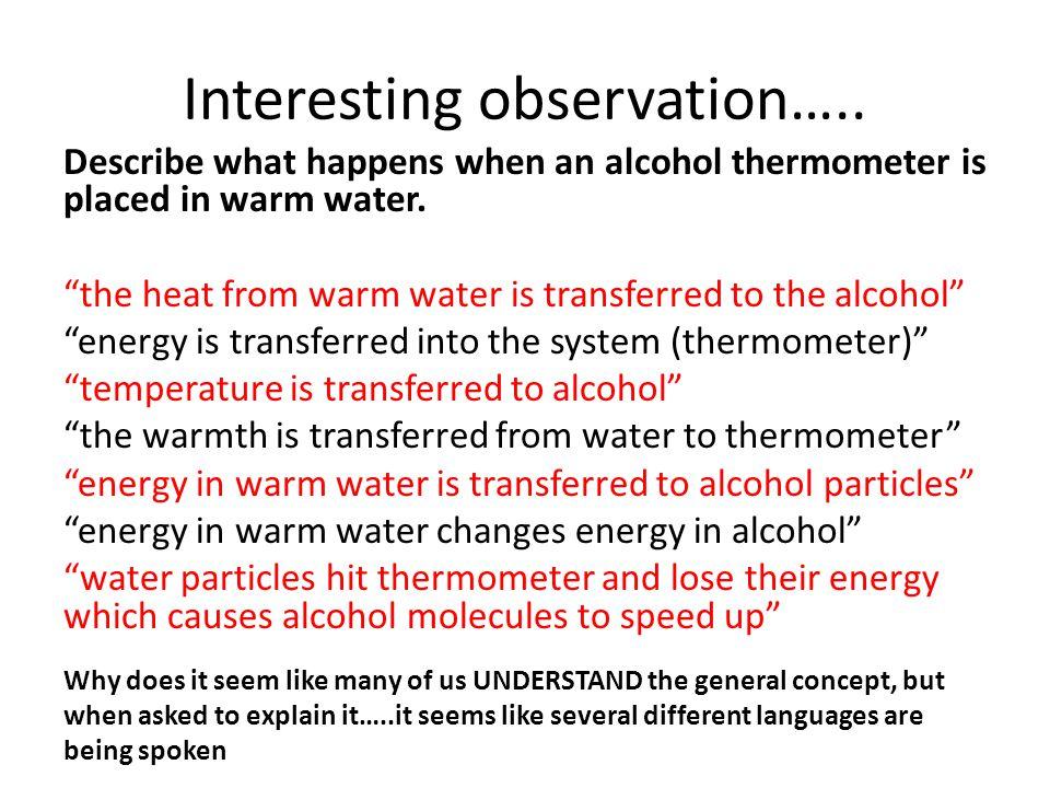 Interesting observation…..
