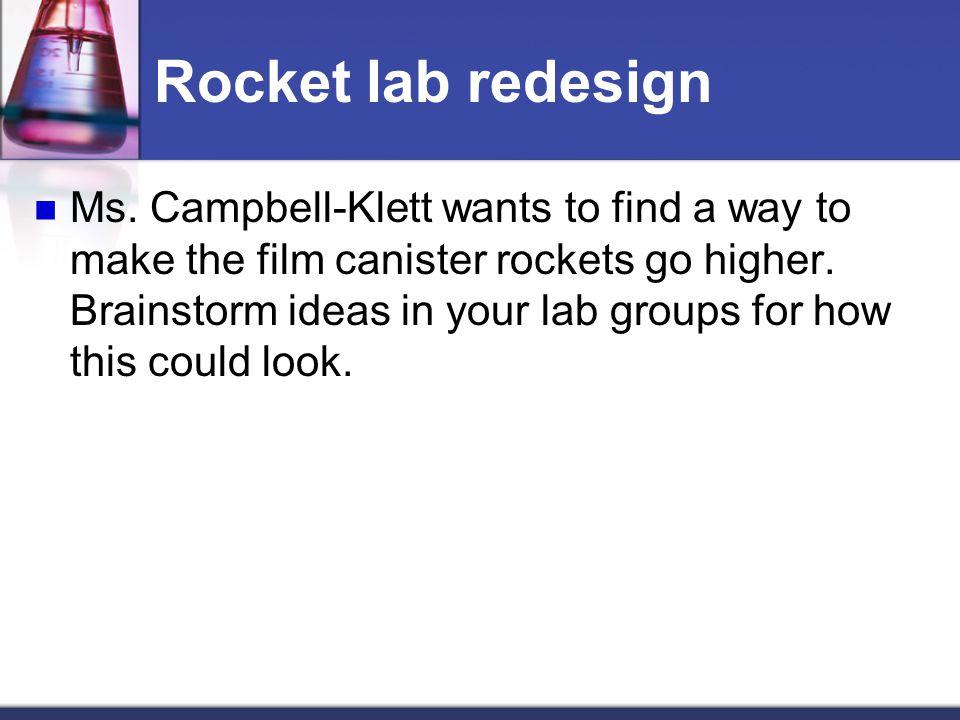 Rocket lab redesign