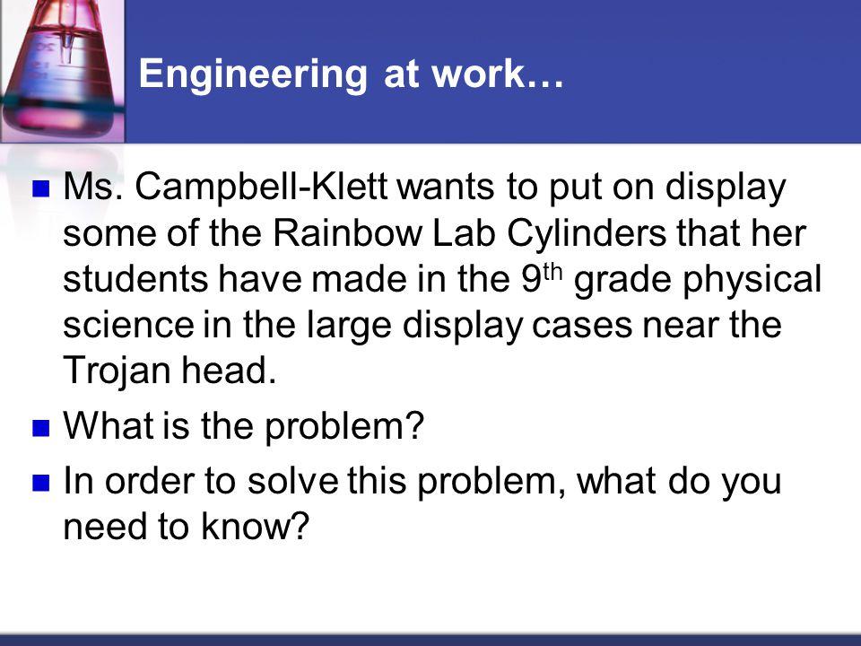 Engineering at work…