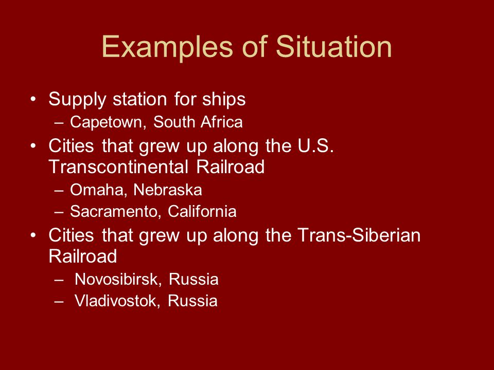 Examples of Situation Supply station for ships